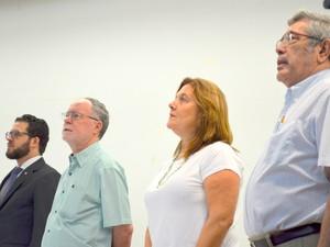 Cerimônia de posse dos secretários em Piracicaba (Foto: Carol Giantomaso/G1)
