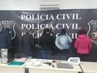 Polícia prende 2 suspeitas de facilitar comunicação entre presos do RN e SC