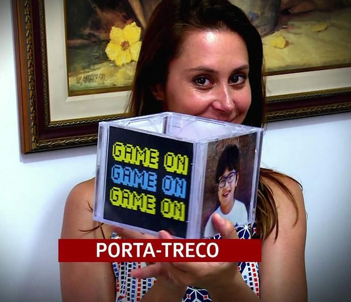 Porta-treco cirativo pode ser um local para colocar balas na mesa da festa (Foto: TV Globo)