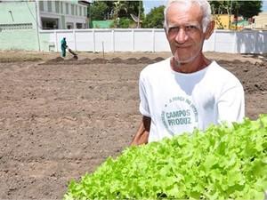 Horta orgânica em Campos (Foto: Divulgação/Prefeitura de Campos)