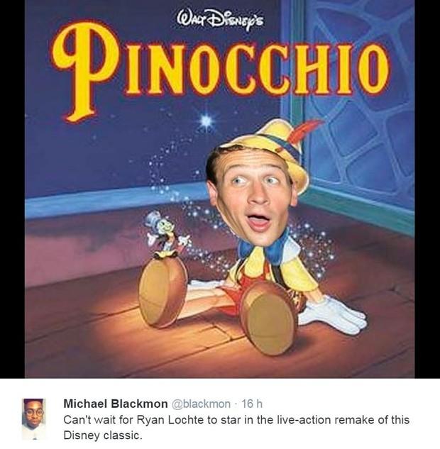 Caso Ryan Lochte ganha memes na web (Foto: Reprodução/Twitter)