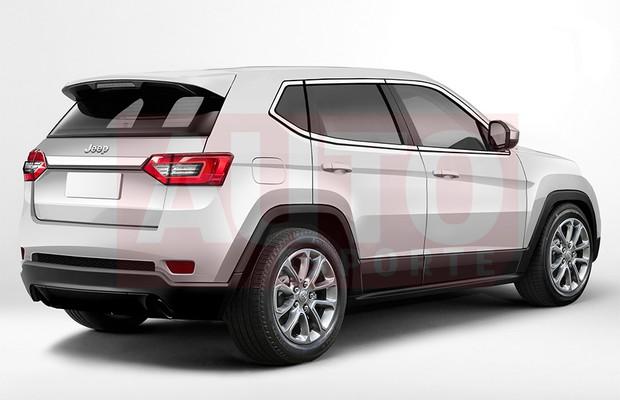 Projeção mostra como será o novo Jeep Compass nacional (Foto: Renato Aspromonte/Autoesporte)