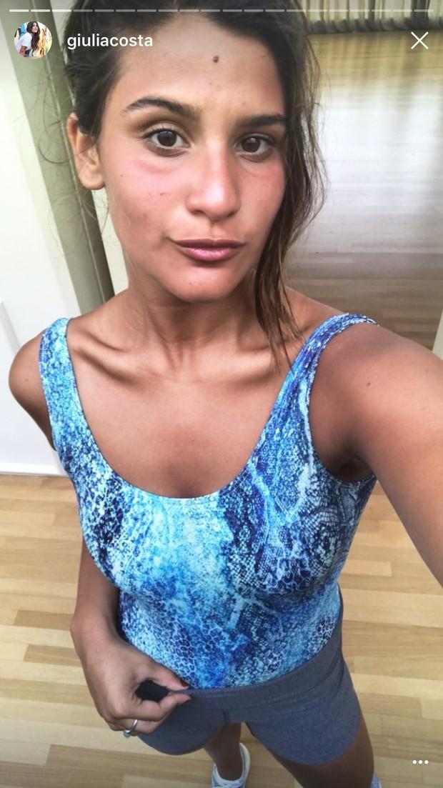 Giulia Costa exibe boa forma e curte primeiro dia das férias na academia (Foto: Reprodução do Instagram)
