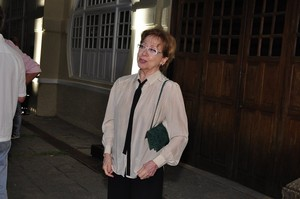 "Fernanda Montenegro na estreia da peça ""Hamlet"" (Foto: Roberto Teixeira / EGO)"
