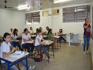 Alunos em sala de aula (Foto: Magda Oliveira/G1)