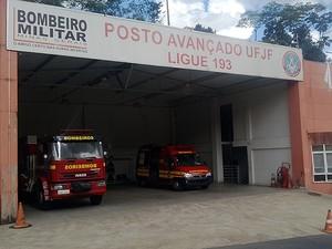 5ª Companhia de Prevenção dos Bombeiros Juiz de Fora (Foto: Roberta Oliveira/ G1)