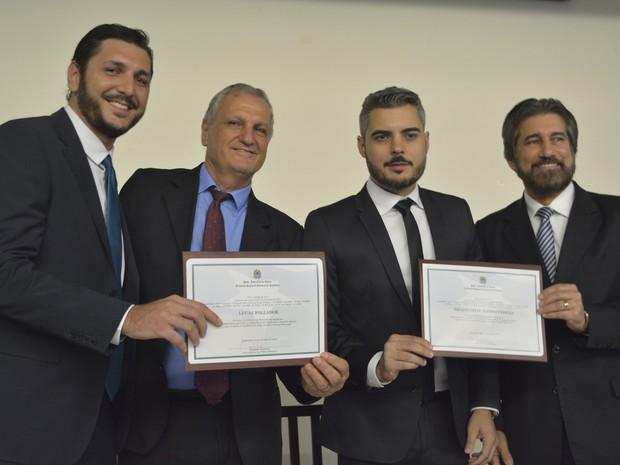 Prefeito eleito, vice e vereadores são diplomados em Ariquemes, RO (Foto: Ana Claudia Ferreira/G1)