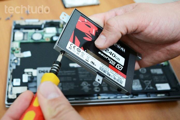 """Caso ocorra erro """"somente leitura"""", instale SSD como secundário (Foto: Adriano Hamaguchi/TechTudo)"""