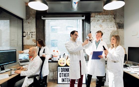Fábrica da cerveja Intelligentx,em Londres (Foto: Divulgação)