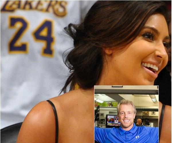 Kim Kardashian vai ao jogo dos Laker's (Foto: Getty Images)