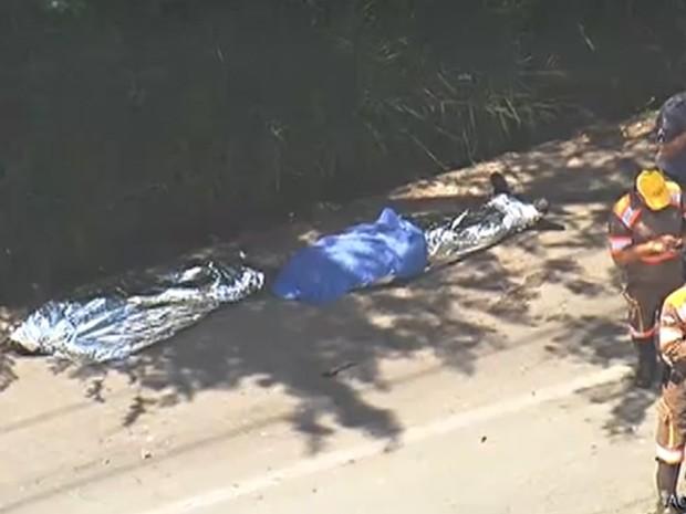 Capotamento de caminhão na Zona Norte de SP deixa ao menos 2 mortos (Foto: Reprodução/TV Globo)
