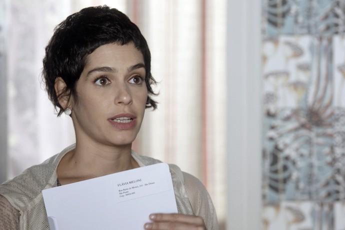 Flavia faz teste de DNA que comprova paternidade de Tião (Foto: TV Globo)
