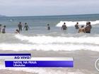 Turistas aproveitam fim de semana do Natal nas praias do litoral de SP