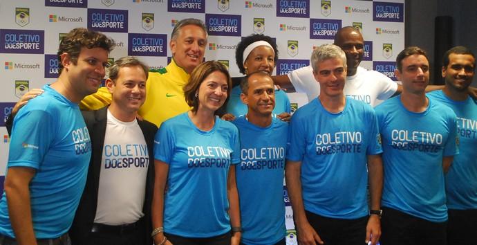 COB, CPB e ex-atletas participaram do lançamento do Coletivo do Esporte (Foto: Marcos Guerra)