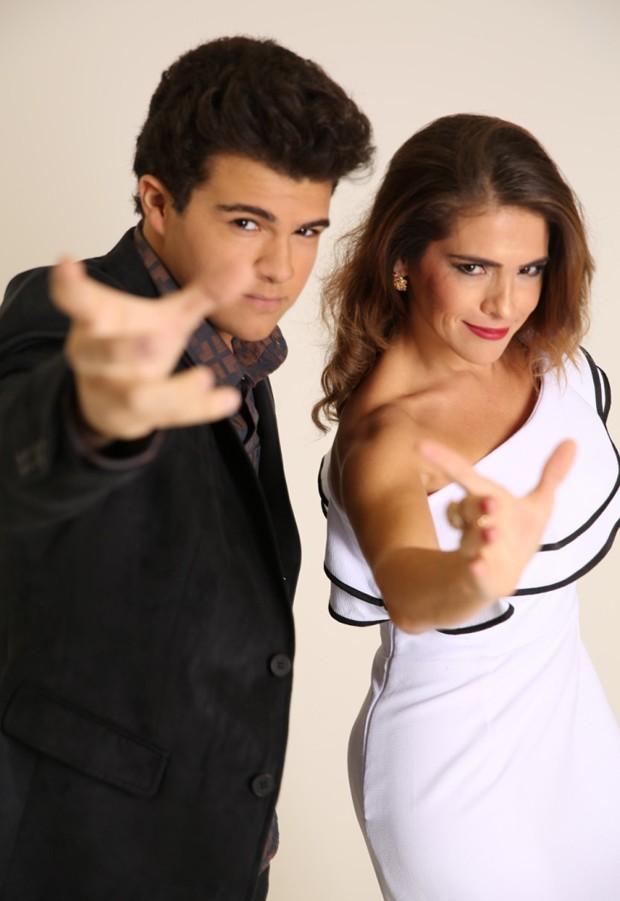 Gabriel Montenegro e sua mãe, a atriz Fátima Montenegro (Foto: Lilian Aragão/Divulgação)