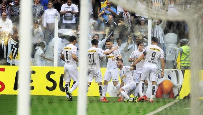 Santos x Palmeiras Thiago Maia (Foto: Marcos Ribolli)