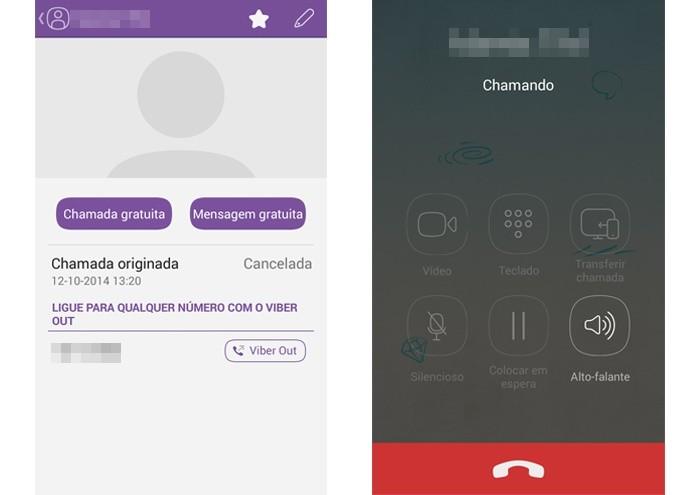 Viber permite chamadas de voz gratuitas entre seus usuários (Foto: Reprodução/Lívia Dâmaso)