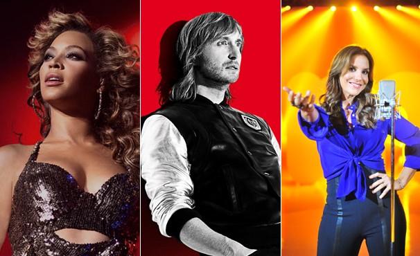A Globo transmite flashes dos show de Beyoncé, David Guetta e Ivete Sangalo na sexta-feira, dia 13 (Foto: Divulgação / Reprodução)