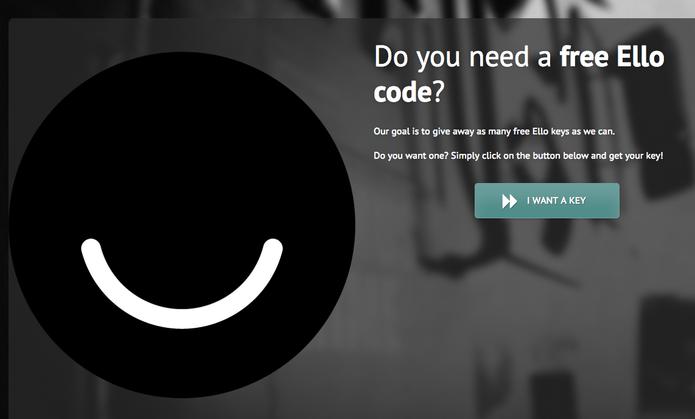Ello Codes consegue convites imediatos para a rede social anti-Facebook (Foto: Reprodução/ElloCodes)