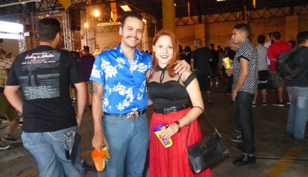 No Curitiba Rock Carnival a galera també se caracteriza (Foto: Divulgação/ RPC)