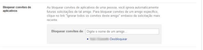 Bloqueando notificações de aplicativos no Facebook (Foto: Reprodução/Lívia Dâmaso)