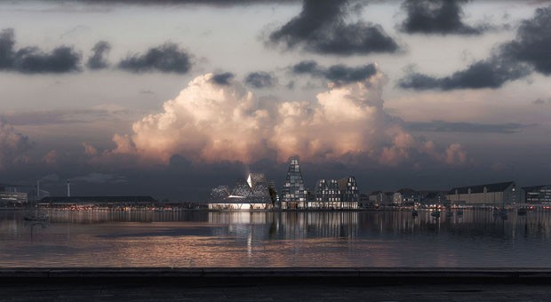 Kengo Kuma cria complexo aquático em Copenhague (Foto: Kengo Kuma and Associates, Luxigon)