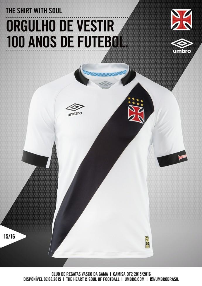 Vasco camisa branca (Foto: Divulgação/ Vasco oficial)