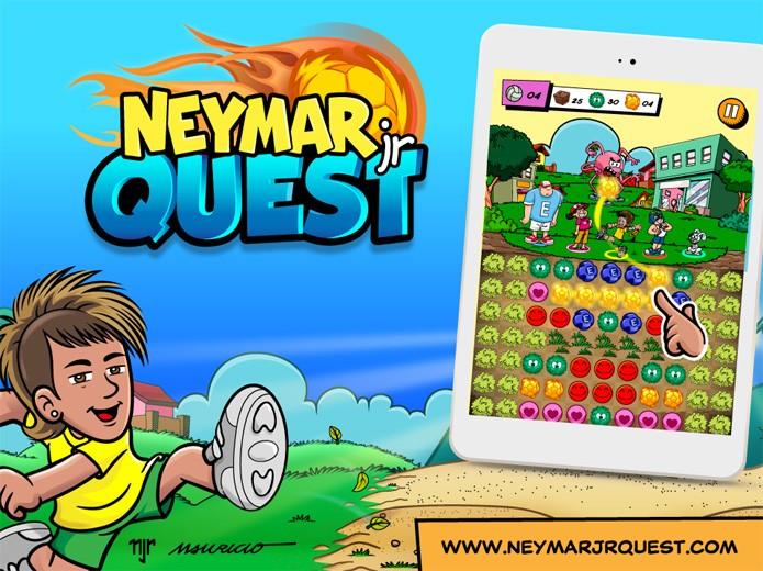 Neymar Jr. Quest trará jogabilidade tradicional de quebra-cabeças de combinar 3 peças iguais (Foto: Divulgação) (Foto: Neymar Jr. Quest trará jogabilidade tradicional de quebra-cabeças de combinar 3 peças iguais (Foto: Divulgação))