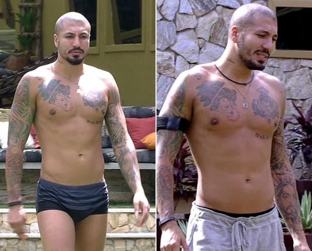 Último eliminado, Fernando saiu mais magro! Ele foi de 89,1 kg para 88,2 kg (Foto: TV Globo)