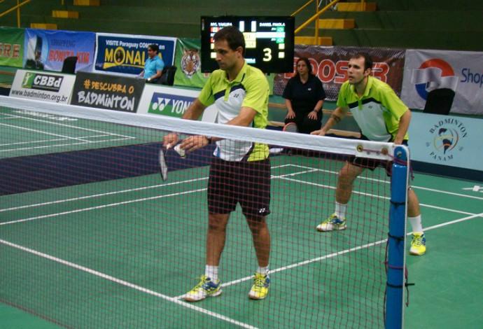 Hugo Arthuso e Daniel Paiola formam parceria no badminton (Foto: CBBd/Hildengard Meneses Chaves)