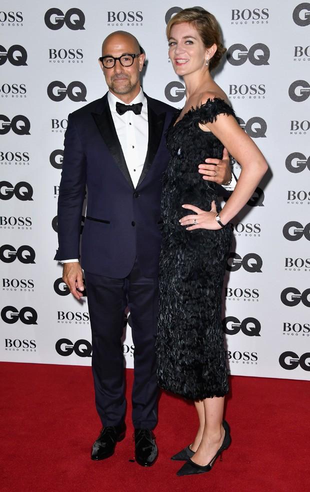 Stanley Tucci e Felicity Blunt (Foto: Gareth Cattermole/Getty Images)