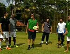Samuel Rosa e os integrantes do Skank falam da relação com o futebol (Foto: Esporte Espetacular - Reprodução)