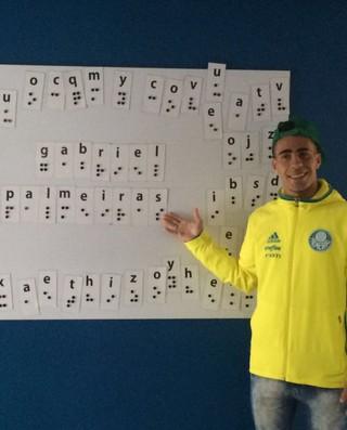 Gabriel Palmeiras Visita Fundação Dorina Nowill (Foto: Felipe Zito)
