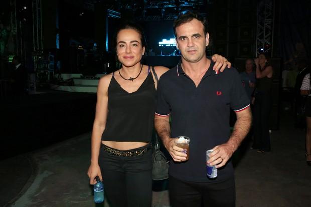 Cassia Linhares e o marido, Renato Bussiere (Foto: Reginaldo Teixeira/CS Eventos Divulgação)