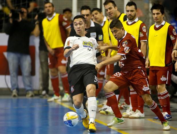 Paulinho Japonês Corinthians Orlândia semifinal Liga Futsal (Foto: Rodrigo Coca/Ag. Corinthians)