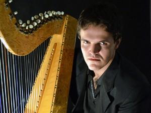 O harpista de Rio Claro Jonathan Faganello (Foto: Divulgação)