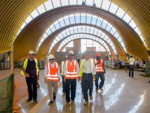 Visita às obras da Linha 2 do metrô (Foto: Daniele Rodrigues / Divulgação / Sedur)