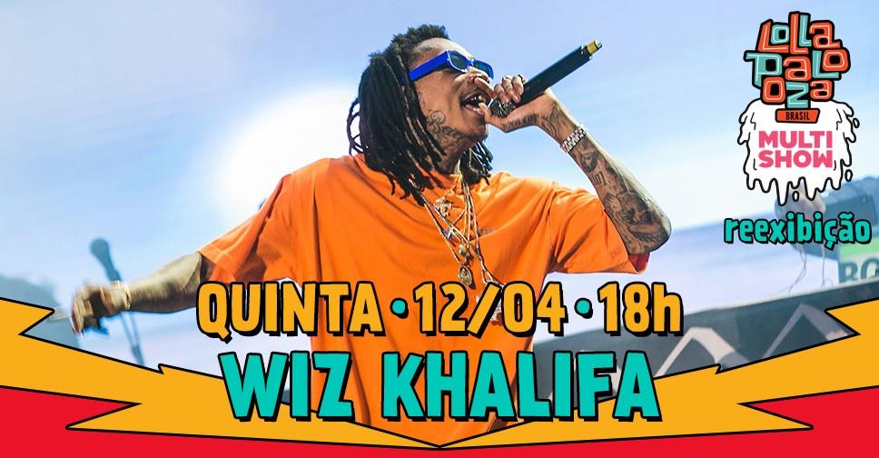 Multishow reexibe o show do rapper Wiz Khalifa nesta quinta (11), s 18h (Foto: Divulgao/Multishow)