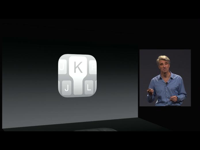 iOS 8 finalmente trará novo teclado com digitação mais rápida e sugestão de palavras (Foto: Divulgação/Apple)