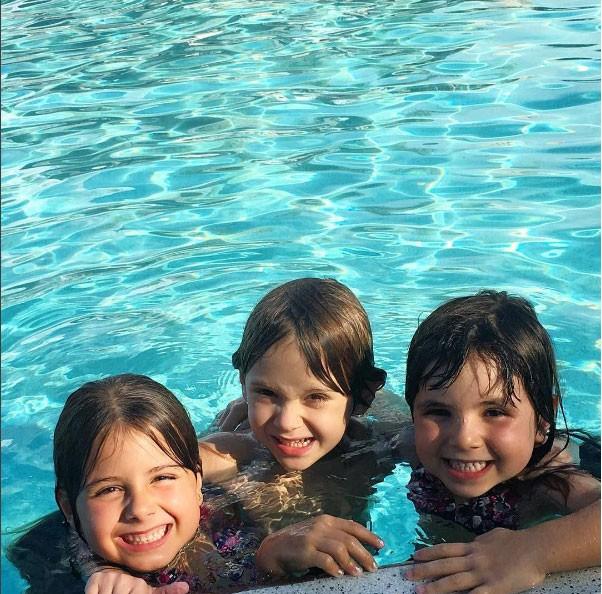 Maitê, Nina, filhas de Patricia, e Vicenzo, filho de Adriane Galisteu (Foto: Reprodução - Instagram)