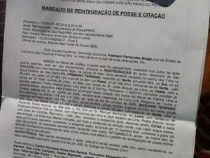 Reitegração de posse é assinada pelo juiz Peterson Fernandes Braga, no RN (Foto: Igor Jácome)