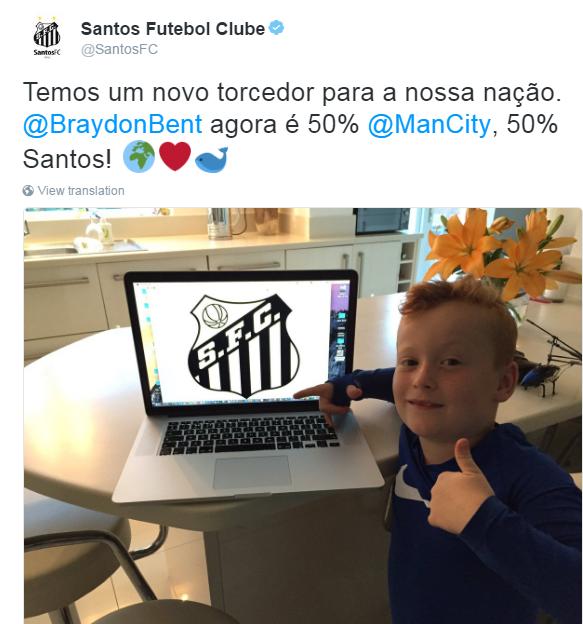 BLOG: Santos recebe a torcida de garoto inglês que ficou famoso ao conhecer Guardiola