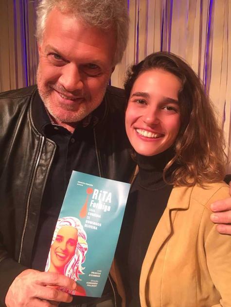 Pedro Bial foi conferir 'Rita formiga', monólogo com Priscila Steinman (Foto: Arquivo pessoal)