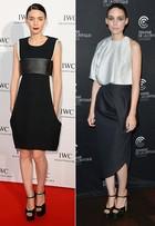 Confira os looks de Rooney Mara, musa do estilo preto e branco