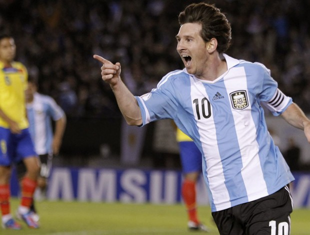 messi argentina x equador (Foto: EFE)