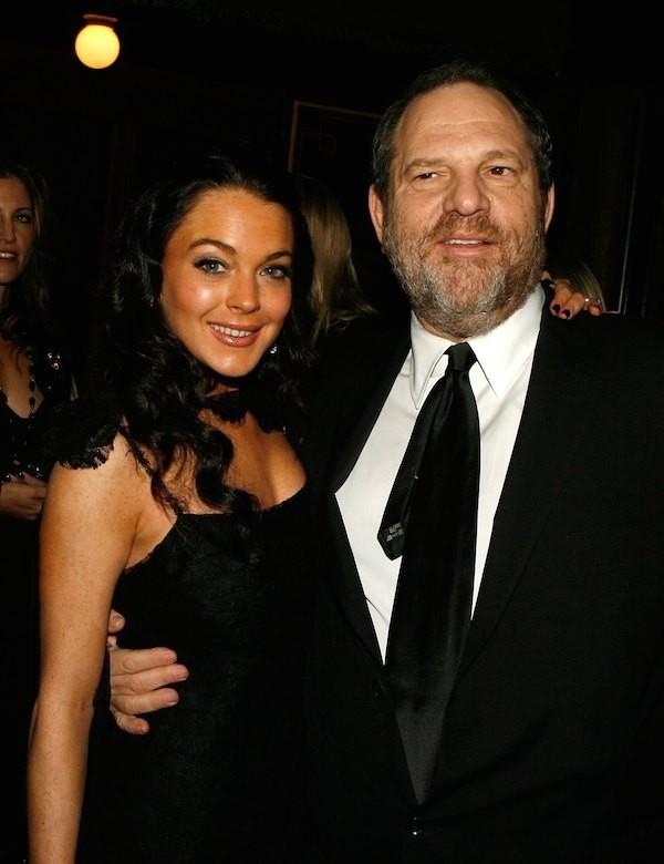 A atriz Lindsay Lohan e o produtor Harvey Weinstein (Foto: Getty Images)