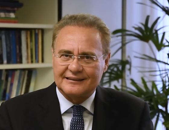 O senador Renan Calheiros, em vídeo divulgado nas redes sociais (Foto: Reprodução)