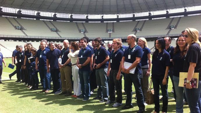 Comitiva da Fifa e do COL realiza inspeções técnicas na Arena Castelão (Foto: João Marcelo Sena)