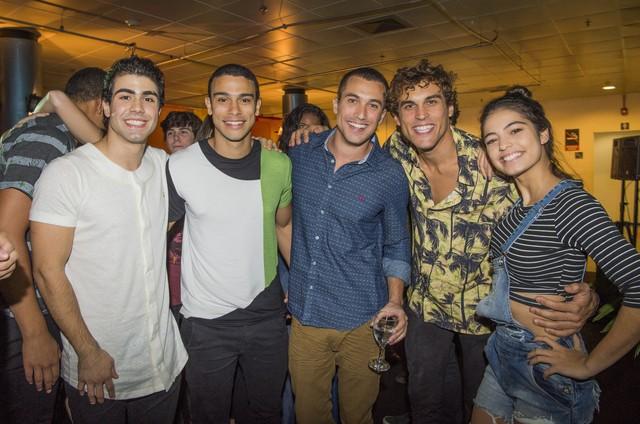 Juliano Laham, Sergio Malheiros, Ricardo Vianna, Felipe Roque e Cynthia Senek (Foto: Caiuá Franco/ Globo)
