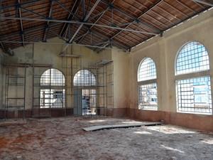 Barracão é restaurado para receber museu da Cana-de-Açúcar em Piracicaba (Foto: Leon Botão/G1)